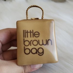 Vintage ceramic Limoge Bloomingdale/'s Little Brown Bag collectible trinket box with ceramic  credit card!